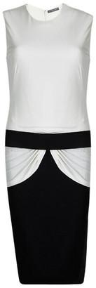 Alexander McQueen Monochrome Knit Draped Sleeveless Dress M