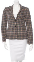 Piazza Sempione Notch-Lapel Plaid Blazer