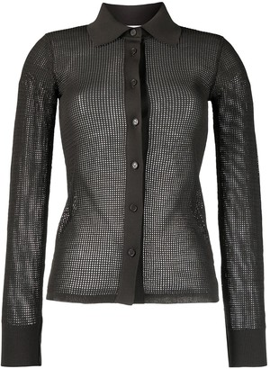 Bottega Veneta Mesh Sheer Shirt