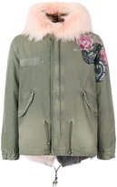 Mr & Mrs Italy fur collar printed parka