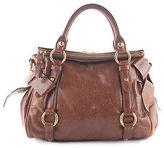 Miu Miu Brown Leather Gold Tone Double Handle Satchel Handbag BP4325 MHL