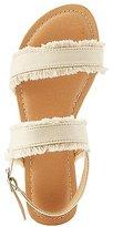 Charlotte Russe Frayed Denim Slingback Sandals