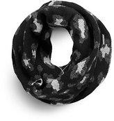 Michael Kors Leopard Jacquard Wool Infinity Scarf