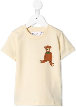 Mini Rodini teddy bear print T-shirt