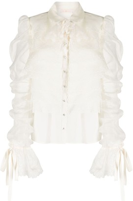 Tory Burch Tiered Ruched Blouse