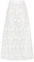 Giamba Embroidered Midi Skirt