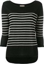 N.Peal cashmere textured stripe jumper - women - Cashmere - S