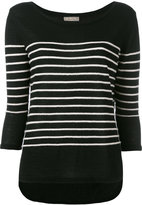 N.Peal textured stripe jumper