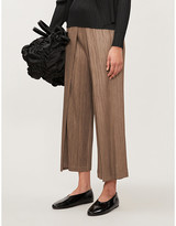 Pleats Please Issey Miyake High-rise pleated straight-leg trousers