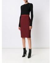 Thierry Mugler stitch detail straight skirt
