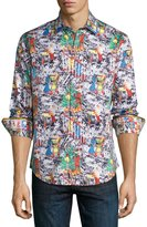 Robert Graham It's A Wrap Holiday Woven Shirt, Multi