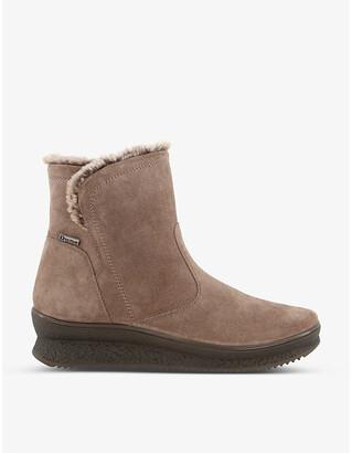 Dune Peeky waterproof platform suede boots