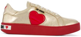 Love Moschino Heart Patch Low-Top Sneakers