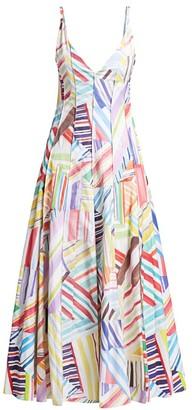 Rosie Assoulin Million Pleats V-Neck Dress