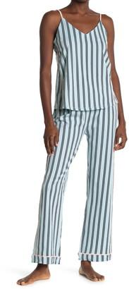 Laundry by Shelli Segal Stripe Print Tank Top & Sleep Pants Pajama 2-Piece Set