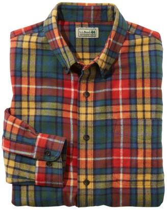 L.L. Bean Men's Scotch Plaid Flannel Shirt, Slightly Fitted