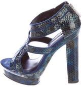 Rachel Zoe Embossed Platform Sandals