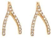 Rose Gold Diamond Wishbone Studs