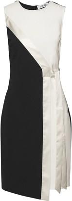 Diane von Furstenberg Lindsey Wrap-effect Satin-trimmed Ponte Dress