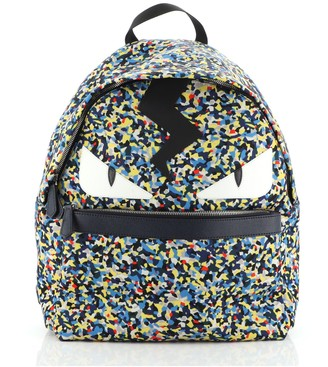 Fendi Monster Backpack Printed Nylon Large