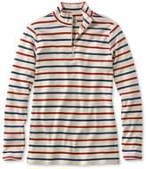 L.L. Bean L.L.Bean French Sailors Pullover, Long-Sleeve Quarter-Zip Multistripe