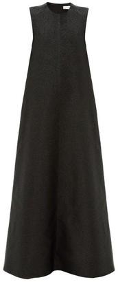 Raey Sleeveless Glitter Effect Trapeze Dress - Womens - Black