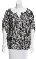 Rachel Zoe Silk Printed Top