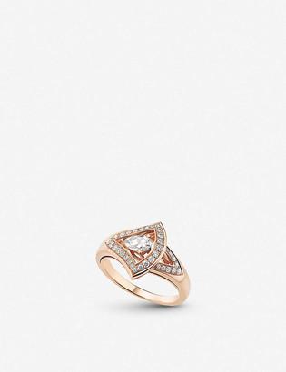 Bvlgari Divas Dream 18ct rose-gold ring diamond and pave diamond ring