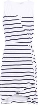 Heidi Klein Striped Stretch-jersey Mini Wrap Dress
