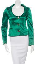 Dolce & Gabbana Satin Notched Lapel Jacket w/ Tags