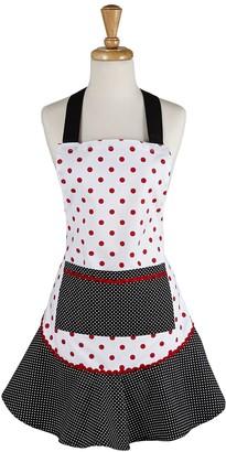 Design Imports Red & Black Polka Dot Vintage Style Apron