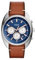 Fossil Men's Quartz Stainless Steel and Leather Automatic Watch, Color:Brown (Model: CH3045)