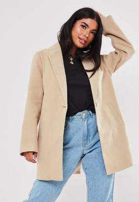 Missguided Petite Beige Formal Coat