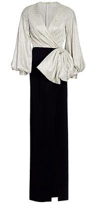 Ahluwalia Embellished Puff-Sleeve Gown