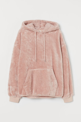 H&M Faux Shearling Hoodie