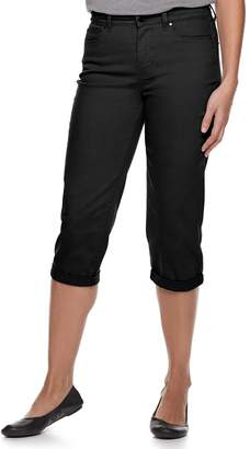 Croft & Barrow Women's Comfort Waist Cuffed Jean Capris