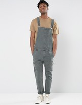 Asos Overalls In Khaki with Biker Styling