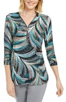 JM Collection Zip-Neck Textured Tunic, Created For Macy's