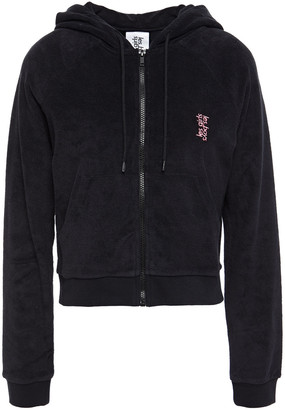 Les Girls Les Boys Embroidered Organic Cotton-terry Hoodie