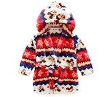 FuShi Children Flannel Pajamas Hooded Bath Robe with Pockets
