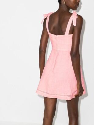 HONORINE Pink Kiki Linen Mini Dress