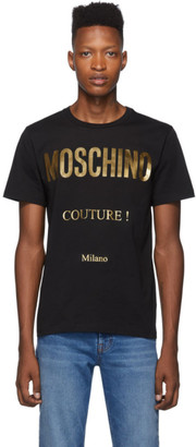 Moschino Black and Gold Couture T-Shirt