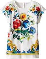 Dolce & Gabbana Girl's Escape Maiolica Bouquet T-Shirt (Big Kids) T-Shirt