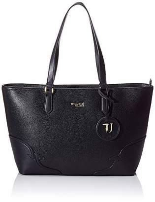 Trussardi Jeans Deco Edge Shopper Drummed Ecol Women's Top-Handle Bag,(W x H x L)