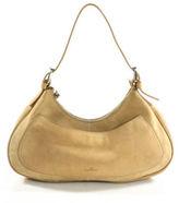 Hogan Beige Suede Leather Adjustable Strap Zipper Top Hobo Shoulder Handbag