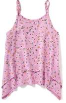Old Navy Floral-Print Tiered Swing Tank for Girls