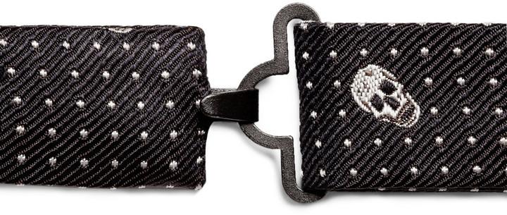 Alexander McQueen Skull-Patterned Woven-Silk Bow Tie
