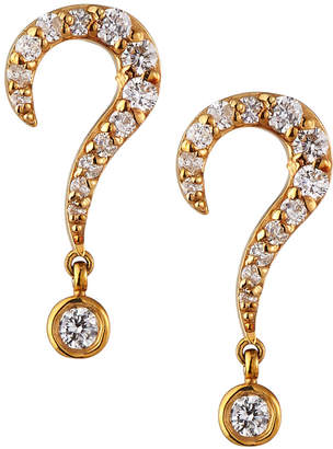 Sydney Evan 14k Diamond Question Mark Stud Earrings