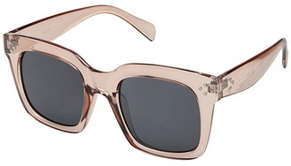 San Diego Hat Company BSG1082 Square Clear Sunglass 100% UVA/P Protection (Blush) Fashion Sunglasses