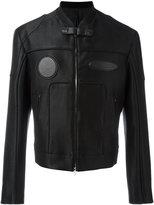 Juun.J zip up jacket - men - Cotton/Leather/Polyester/Rayon - 48